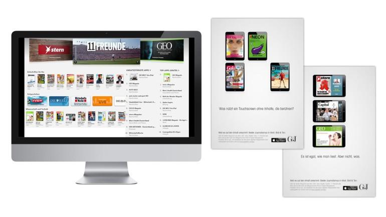 gruner jahr magazine ab sofort im apple kiosk bertelsmann se co kgaa. Black Bedroom Furniture Sets. Home Design Ideas