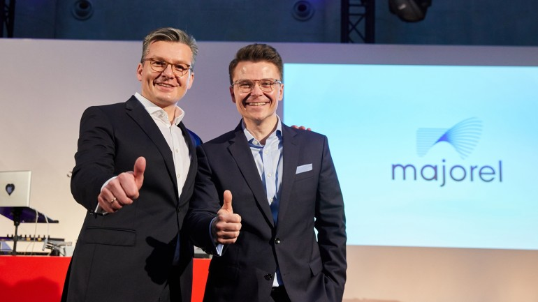 CEO Majorel Thomas Mackenbrock (links) und Oliver Carlsen